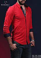 Красная с черным мужская рубашка тренд 2017
