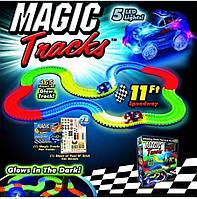 Детский светящийся гибкий трек Magic Tracks 165 деталей - светящаяся дорога с машинкой Меджик Трекс