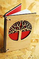 """Деревянный блокнот """"Древо"""" ручной работы формат А5 (А6 под заказ)"""
