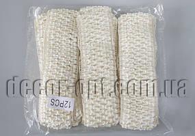 Повязка кремовая Зиг-заг для ручной работы 40мм 12 шт