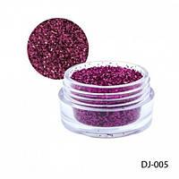 Сухой блеск - голографическая пыль в баночках для ногтей DJ Lady Victory