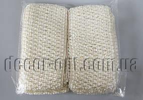 Повязка кремовая Зиг-заг для ручной работы 70мм 12 шт