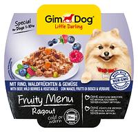 512242 GimDog FruityMenu Рагу с говядиной, лесными ягодами и овощами, 100 гр