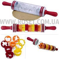 Скалка с формочками для выпечки и печенья - Roll and Store Pin