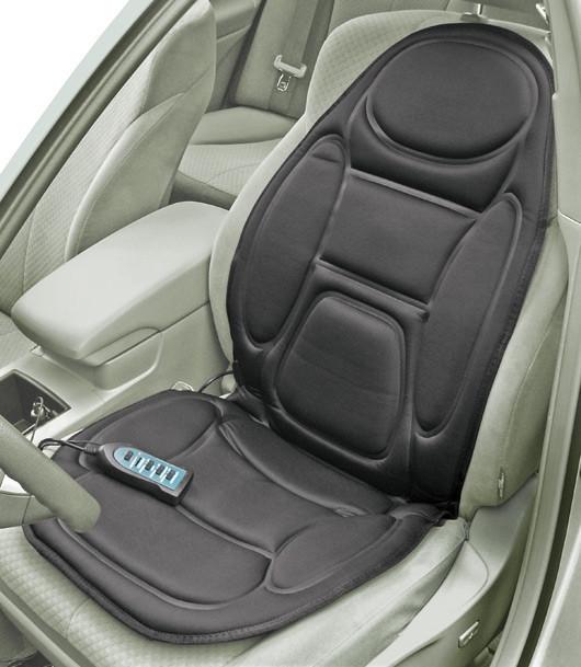 Массажная накидка с подогревом HL-889B для сидения в автомобиле CUSHION. Чехол с массажером для кресла