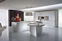 Кухни с гнутыми фасадами (шпон, краска)