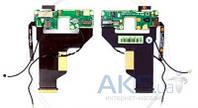 Шлейф для HTC P3700 Diamond c камерой, динамиком, боковыми клавишами и компонентами