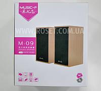 Компьютерные колонки (дерево) - M-09 6W