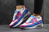 Женские,подростковые кроссовки NIKE AIR MAX,белые с голубым