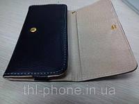 Кожаный чехол книжка для смартфона JiaYu G4, THL W8, Zopo Zp810, Hero H7500+ HTC, Nokia, Samsung