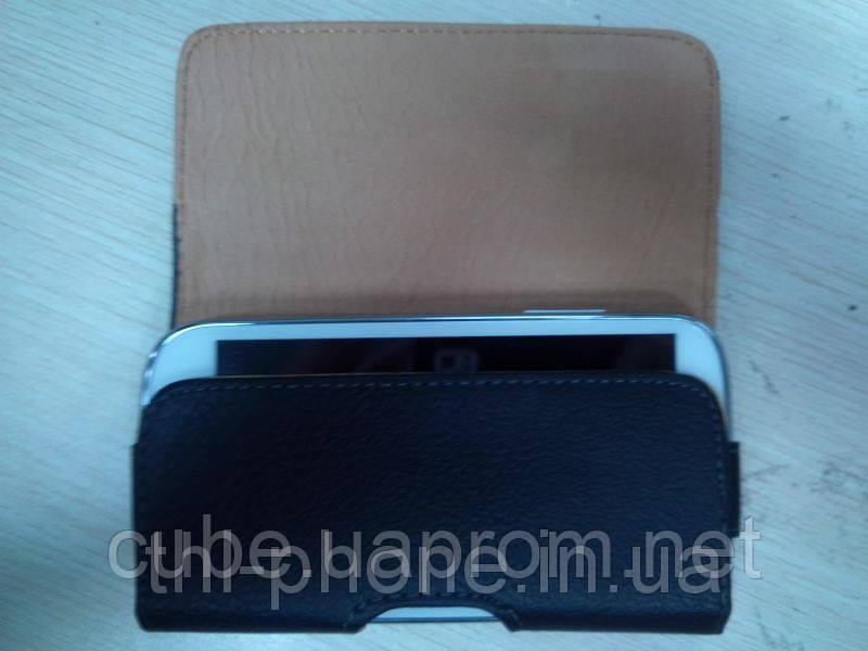 Кожанный чехол на ремень для смартфона JiaYu G4, THL W8, Zopo Zp810, Hero H7500+ HTC, Nokia, Samsung