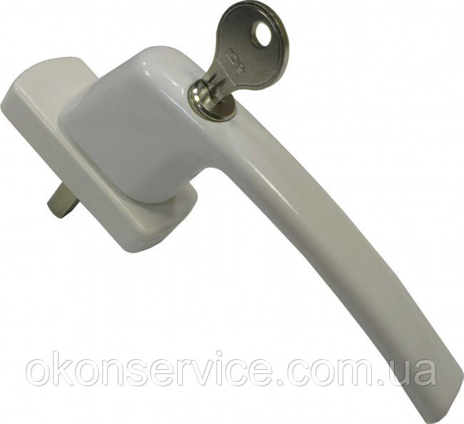 Ручка оконная МАСО с ключом, штифт 40 мм, Гармония.