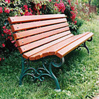 "Ножка для скамейки чугунная ""Парковая""  1шт (вес - 12.5 кг), фото 1"