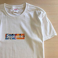 Футболка Supreme Box New | Мужская белая | Ориг. бирка