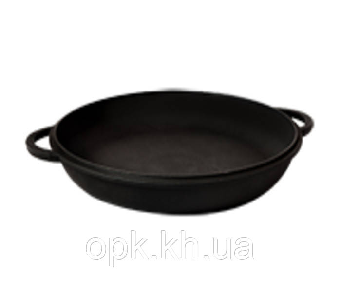 "Крышка-сковорода чугунная ""Ситон""  Ø 340 мм (вес - 3,5 кг)"
