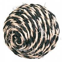 Trixie TX-4075 мяч-когтеточка сизалевый 6,5 см  для кошек (разных цветов)