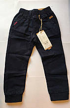 Катоновые штаны (тёмно-синие) для мальчиков 98-122 см