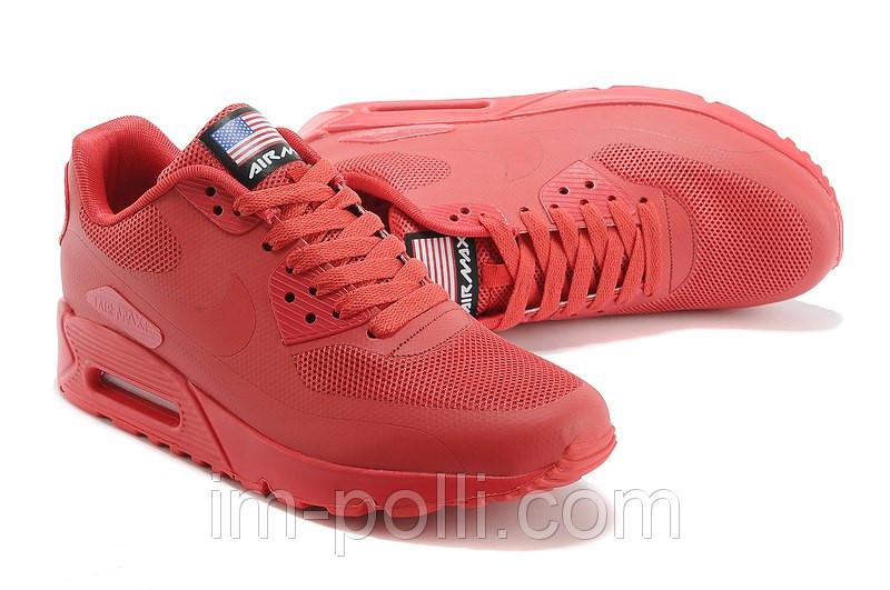f30c1431 Nike Air Max 90 Hyperfuse USA Кроссовки женские красные - Интернет магазин  обуви «im-