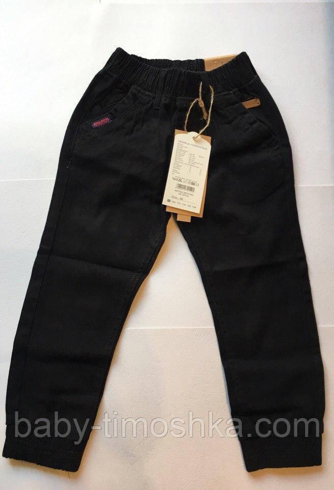 Катоновые штани (чорні) для хлопчиків 98-116 см