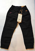 Катоновые штаны (чёрные) для мальчиков 98-128 см