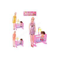 Кукла 339-2 с кроваткой, 2 шт в кульке