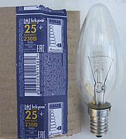 """Лампа накаливания свеча Е14 25 Вт (ДС) """"Искра"""" Львов, фото 1"""