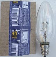 """Лампа накаливания свеча Е14 40 Вт (ДС) """"Искра"""" Львов, фото 1"""