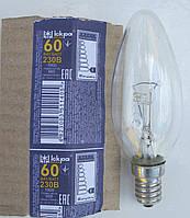 """Лампа накаливания свеча Е14 60 Вт (ДС) """"Искра"""" Львов, фото 1"""