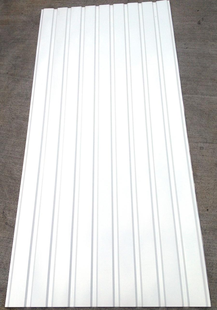 Профнастил ПС-8, Белый, на подшиву 2 м Х 0,95м