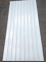 Профнастил ПС-8, Белый, на подшиву 2 м Х 0,95м, фото 2