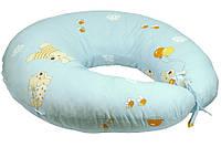 Подушка для кормления с наволочкой Руно, голубая