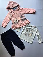 Спортивный костюм 3-ка для девочек 1-5 лет 1год