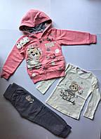 Спортивный костюм 3-ка для девочек 104-122 см