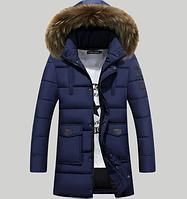 Мужская зимняя куртка с капюшоном. Модель 6125