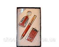 Презент мужской набор купить 3 пр: ручка, брелок, зажигалка