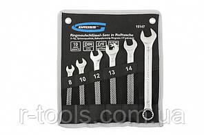 Набор ключей комбинированных 8-17 мм, 6 шт., CrV, холодный штамп  GROSS 15147
