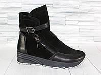 Зимние спортивные ботинки. Кроссовки HiTop. Натуральная замша. 1450/3