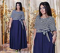 Платье №3340Г (р-р.50,52,54,56). Ткань-вискоза+штапель (Турция)