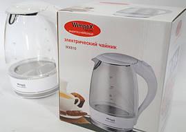 Стеклянный электрический чайник Wimpex WX-810 с LED подсветкой