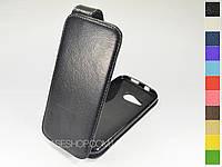 Откидной чехол из натуральной кожи для HTC One mini 2