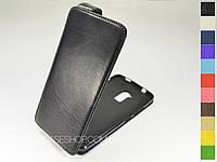 Откидной чехол из натуральной кожи для HTC One Max