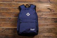 Мужской модный рюкзак школьный Backpack Pobedov Roominess Navy