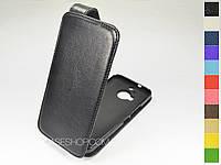 Откидной чехол из натуральной кожи для HTC One M9+ Plus