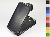 Откидной чехол из натуральной кожи для HTC One S (z520e)