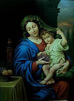 """Живопись маслом картины. Картина Пьера Миньяра """"Мадонна с виноградом"""" (The Virgin of the Grapes)"""