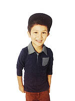 Реглан поло  для мальчика,  размер 86/92,98/104,110/116, Lupilu ,арт-358