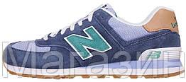 Мужские кроссовки New Balance 574 (Нью Баланс 574) в стиле синие