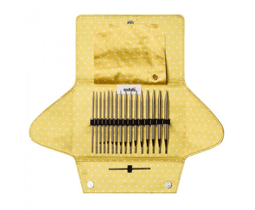 Набор круговых никелированных спиц со сменными лесками addiClick MIX 670-7