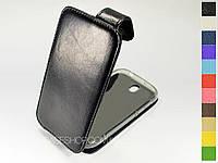 Откидной чехол из натуральной кожи для HTC One SV c525e