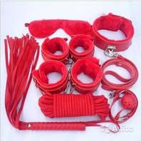 Эротический секс набор для тематических BDSM игр (красный, черный), набор для садо-мазо, интимный набор bdsm